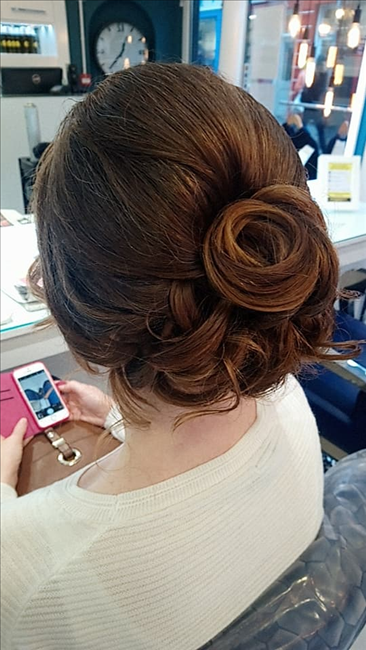 Hair salon Momento Galway wedding hair bridal hair race day hair