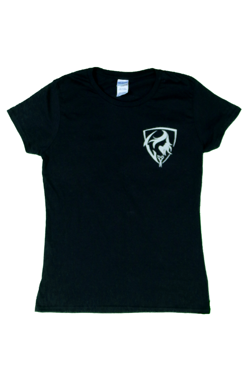 Momento Apparel Black T-Shirt with logo front